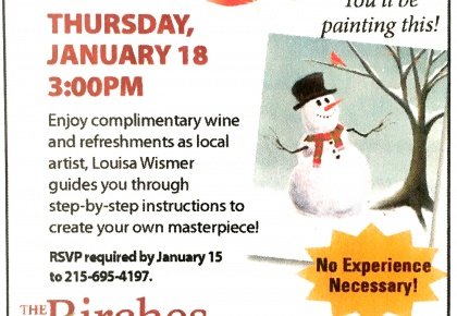 ad for sip and paint event